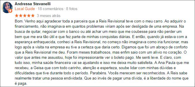 Comentário Andressa