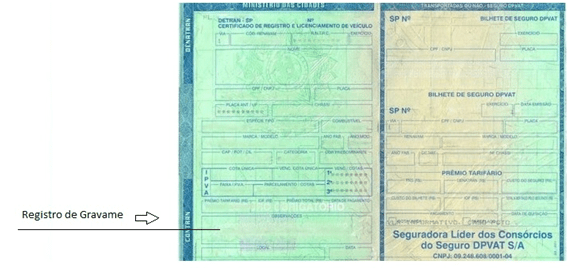 Como identificar registro de gravame