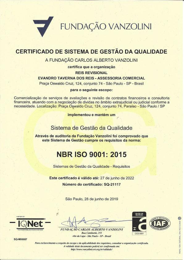 Certificado Reis Revisional