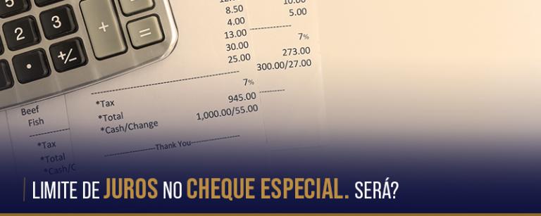 Limite de Juros no Cheque especial